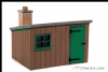 Peco LK-704 0G Wooden Lineside hut